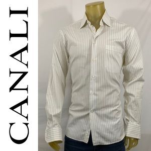 Canali Long Sleeve Dress Shirt